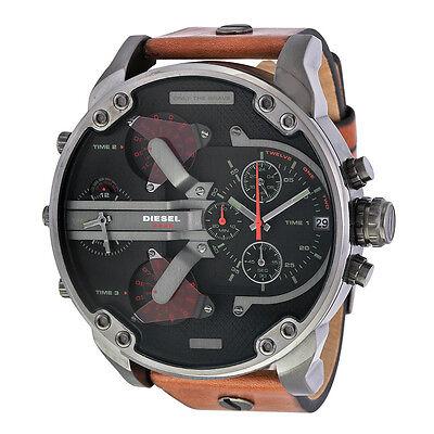 New Diesel Mr  Daddy 2 0 Dz7332 4 Time Zone Chronograph Mens Watch