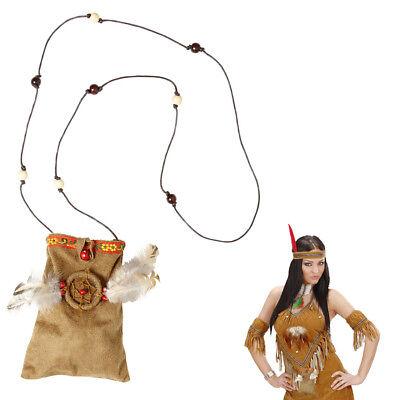 INDIANER FRAU TASCHE Karneval Squaw Indianerin Umhängetasche Kostüm Party (Indianer Frau Kostüm)