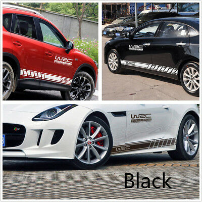 Pair Racing Car SUV Graphics Both Side Long Stripe Body Vinyl Sticker DIY Decal