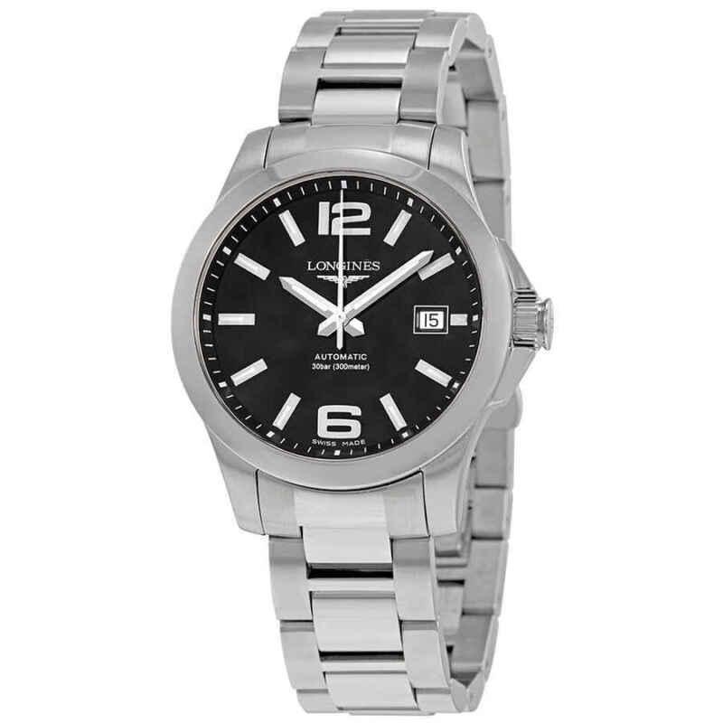 Longines Conquest Automatic Black Dial Men 39mm Watch L3.776.4.58.6
