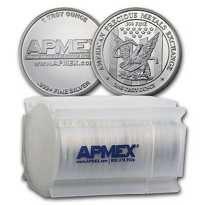 Special Price  1 Oz Apmex Silver Round  999 Fine  Lot Of 20    Sku  74753