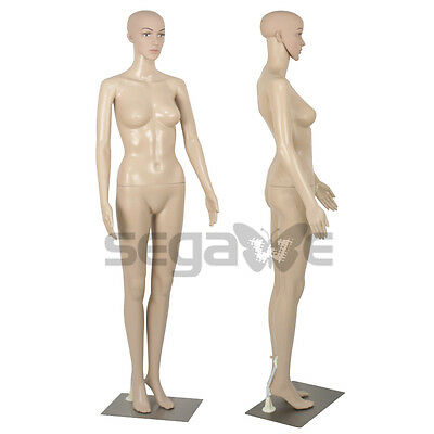 Female Mannequin Full Body Manikin Dress Form Display Metal Base