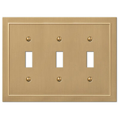 allen + roth Bethany, Enderbery 3-Gang Champagne Bronze Triple Toggle Wall Plate