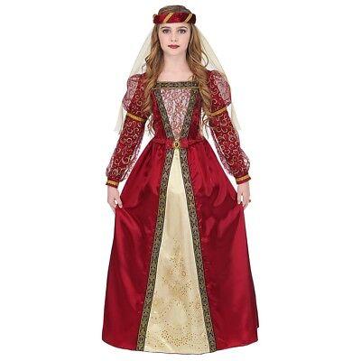 Mädchen Mittelalter Kostüm (MITTELALTER PRINZESSIN KOSTÜM KINDER Karneval Fasching Gothik Kleid Mädchen 0733)