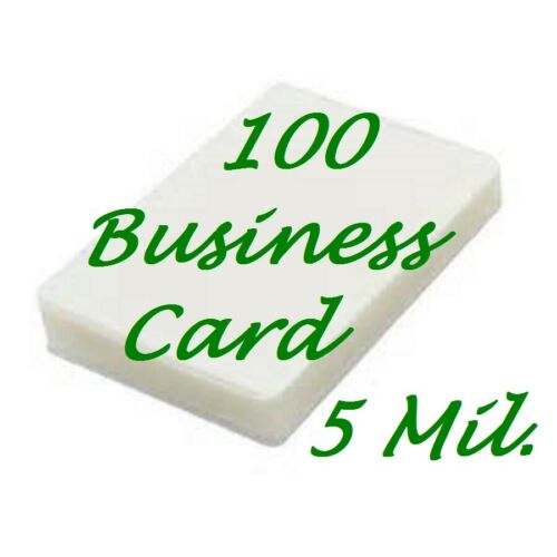 100 Business Card 5 Mil Laminating Pouches Laminator Sheets 2-1/4 x 3-3/4
