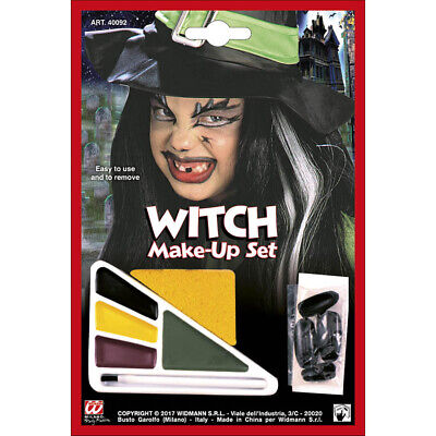 KINDER HEXEN SCHMINKSET Horror Schminke Halloween Make Up Set Nägel Farbe 40092 ()