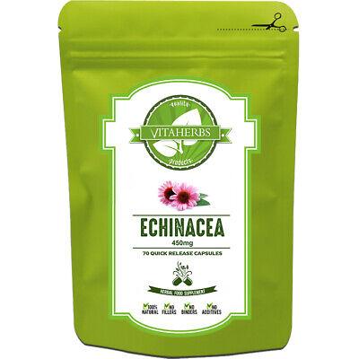 Echinacea 450mg Capsules | Immune System | Echinacea Purpurea Capsules