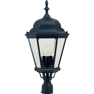 - Maxim Westlake Cast 3-Light Outdoor Pole/Post Lantern Black - 1007BK