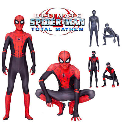 Spider-Man Far From Home Adult/Kids Peter Parker Cosplay Costume Suit Halloween - Peter Parker Halloween Costume