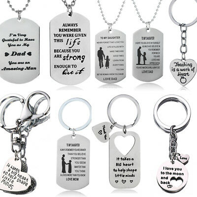 Christmas Gifts For Mum Dad Son Daughter Necklace Keyring Mother Mom Presents ()