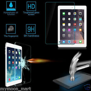 Apple iPad 2 3 4 Scratch Resist Tempered Glass Screen Protector Film Guard