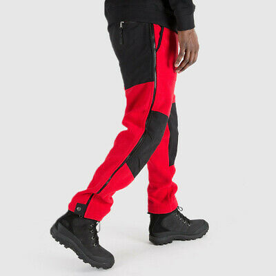THE NORTH FACE RETRO 95 DENALI PANTS RED BLACK LARGE XL TNF SUPREME FLEECE NWT