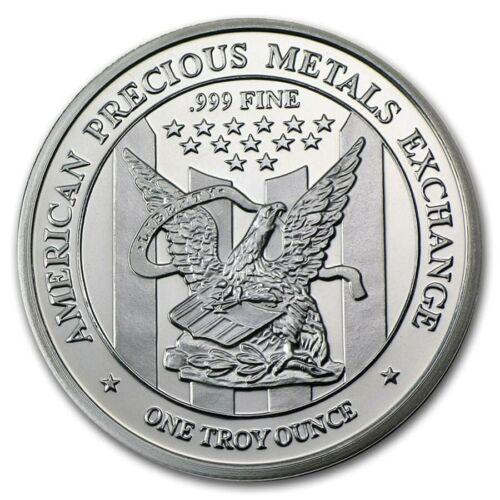 AMERICAN EAGLE 1 OUNCE .999 FINE SILVER ROUND - APMEX - PROOF LIKE CAMEO - NICE