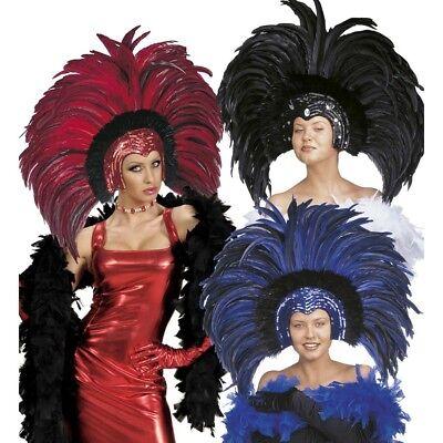 XL FEDERKOPFSCHMUCK Karneval Brasilien Federschmuck Kopfschmuck Kostüm Rio - Karneval Kostüm Brasilien