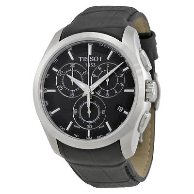 Tissot T-Trend Couturier Chronograph T0356171605100 Black Leather Mens Watch