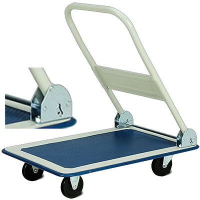 150Kg Heavy Duty Folding Trolley Cart Platform Flat Hand Barrow Sack comfortable