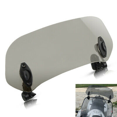 Adjustable Moped Scooter Windshield Extension Windscreen Deflector Clip On Smoke