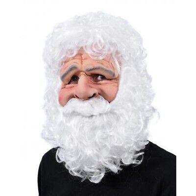 Jolly Weihnachtsmann Lustig Weihnachtsferien Erwachsene Kostüm Maske & Bart &
