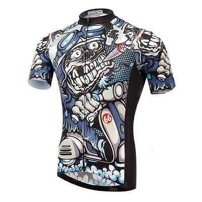 Weimostar Cigar Skull Men Cycling Jersey Bicycle Shirt Cycli
