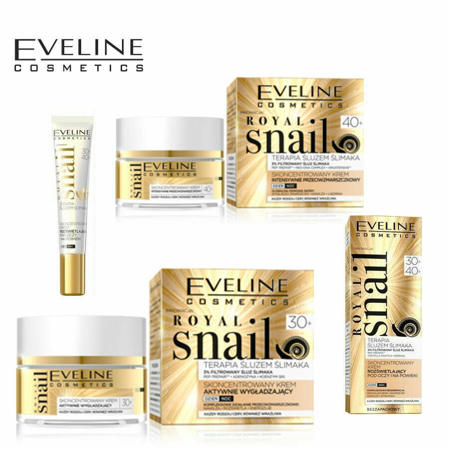 EVELINE ROYAL SNAIL ANTI-AGEING  REPAIR FACE CREAM  EYE CREAM MASK ANTI-WRINKLE