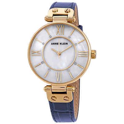 Anne Klein Crystal White MOP Dial Ladies Watch AK/3228MPNV