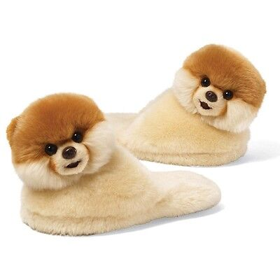 Gund Boo Slippers Youth Sized The Worlds Cutest Dog   Boo