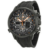 Citizen Navihawk A-T Black Rubber Mens Watch