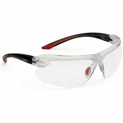 Bolle IRI-s Bifocal Safety Glasses with Black Temples and Clear Anti-Fog (Safety Glasses With Bifocals)