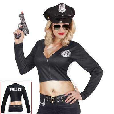 DAMEN POLIZISTIN SHIRT Karneval Polizisten Cop Kostüm Polizistenkostüm - Cop Kostüm Damen
