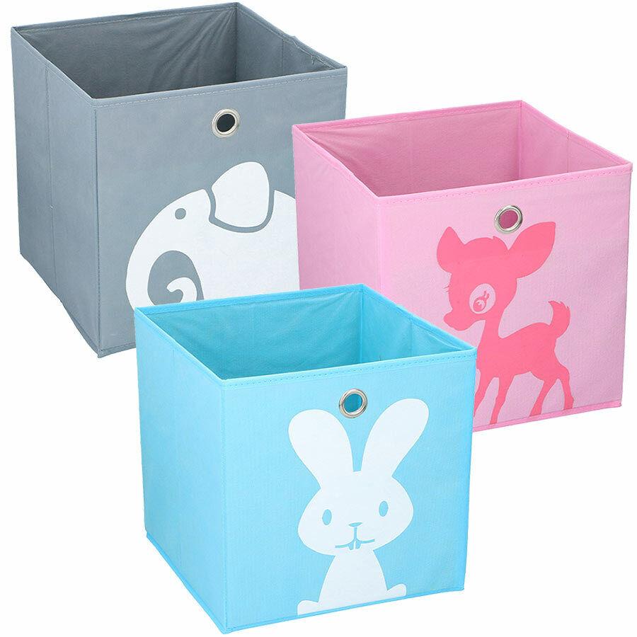 Aufbewahrungsbox ca. 28x28 cm Kinder Spielzeugkiste Kinderzimmer Faltbox Kiste