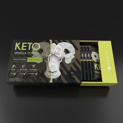 Omnite Keto Instant Coffee - French Vanilla Flavor- 20 Sachets/Box