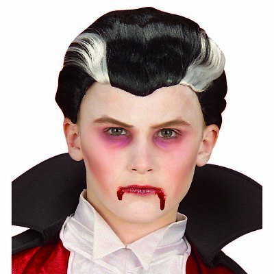 VAMPIR PERÜCKE KINDER Halloween Kostüm Zubehör Vampir Kostüm Jungs Karneval 6278