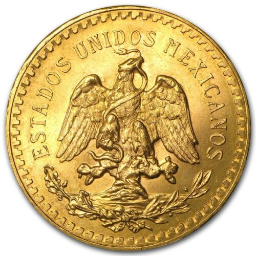 Mexico Gold 50 Pesos AGW 1.2057 (Random Year)  - SKU #92150