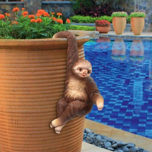 Hanging 3 Toed Sloth Garden Sculpture Statue Flowerbed Outdoor Decor