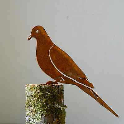 Rusty Metal Dove Bird Silhouette Accent for Inside or Out,Porch,Fence
