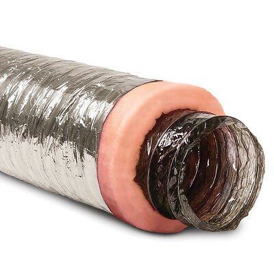 10-in x 25-Ft Insulated Flexible Round Flex Duct Tube R6 Heating/AC Vent Venting