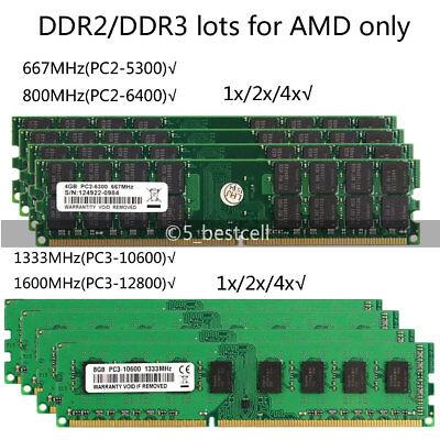 2G/4GB/8GB DDR2 DDR3 800/1333/1600MHz DIMM Desktop Speicher Ram Memory AMD lot ()