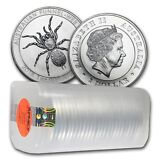 2015 1 oz Silver Australian Funnel-Web Spider (Lot, Roll, Tube of 25)
