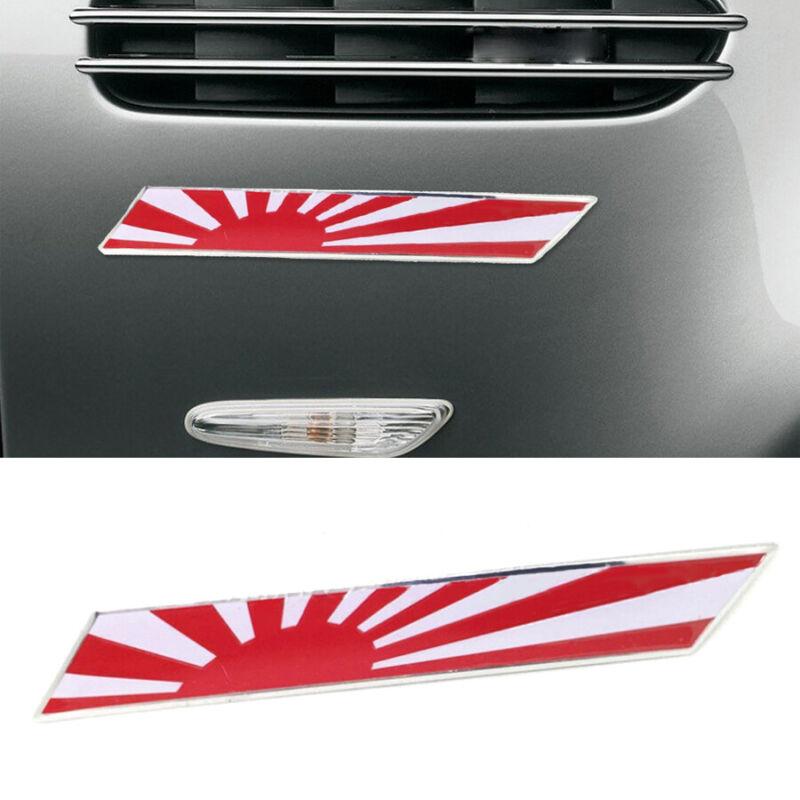 1x JDM Sporty JAPAN Rising Sun Flag Metal Emblem Car Decoration Sticker Decal