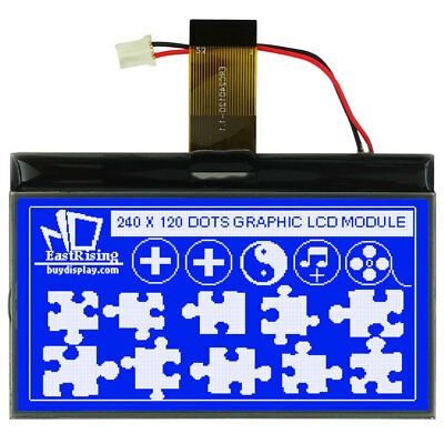 Blue 3 Inch Graphic Lcd 240x120 Cog Display Module Optional Touch Panel