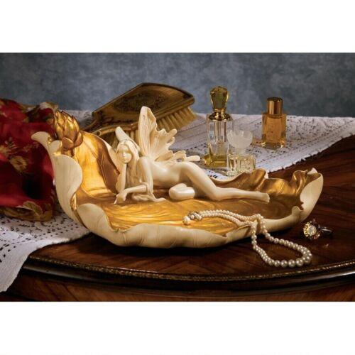 Art Nouveau Enchanted Fairy Trinket Holder Treasure Jewelry Sculpture New