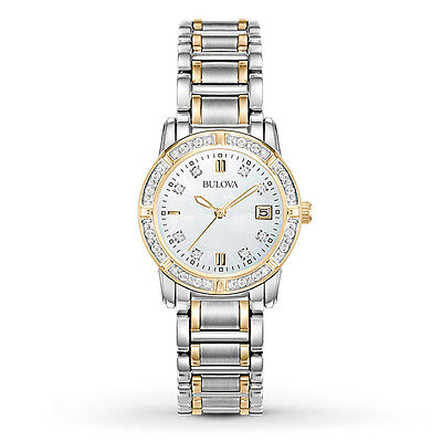 Bulova Women's 98R107 Diamond Accents Quartz Two Tone Dress Watch
