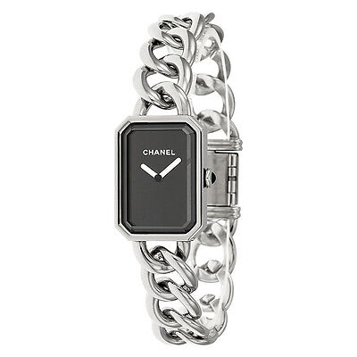 Chanel Premiere Black Dial Stainless Steel Ladies Watch H3250