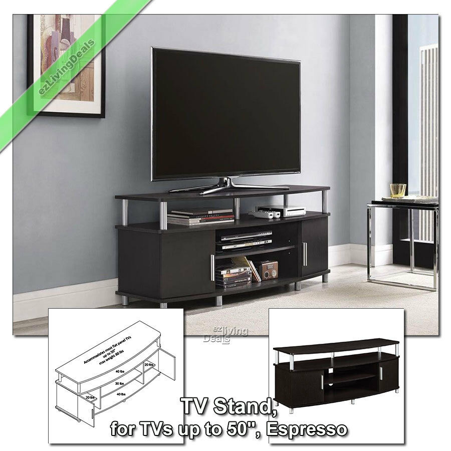 50 Inch TV Stands for Flat Screens Wood Stand Media Console