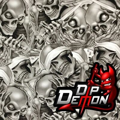 See No Evil Extreme Skulls Hydrographic Water Transfer Film Hydro Dip Dipping
