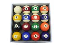 Spots and Stripes 48mm pool balls set