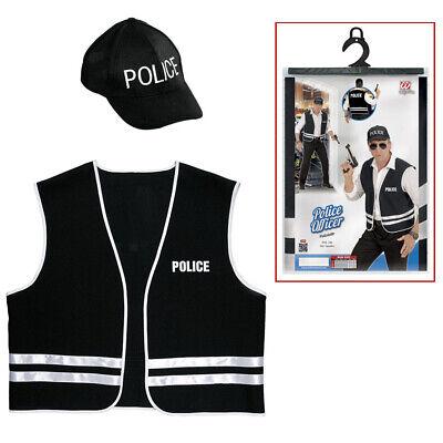 POLIZISTEN HERREN KOSTÜM SET # Karneval Cop Polizei - Polizei Kostüm Männlich
