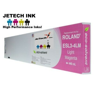 Roland Esl3-4 Eco-solvent Max Compatible 440ml Ink Cartridge - Light Magenta