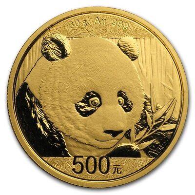 2018 China 30 gram Gold Panda BU (Sealed) - SKU #159694