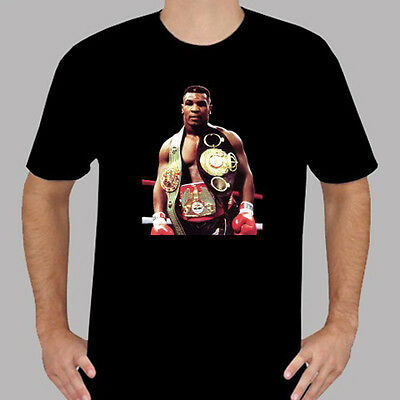 New Iron Mike Tyson Boxing Champion Icon Mens Black T Shirt Size S To 3Xl